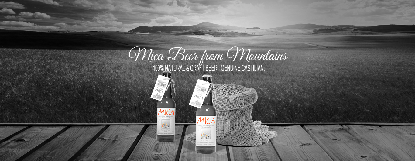 Beer MICA from Mountains. 100% Natural & Craft Beer. Genuine Castilian Flavour.